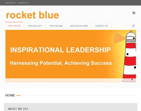 Rocket Blue Homepage Design