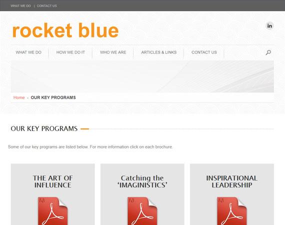 Rocket Blue - Program Page