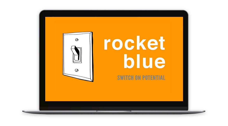 Rocket Blue Website - Front Page