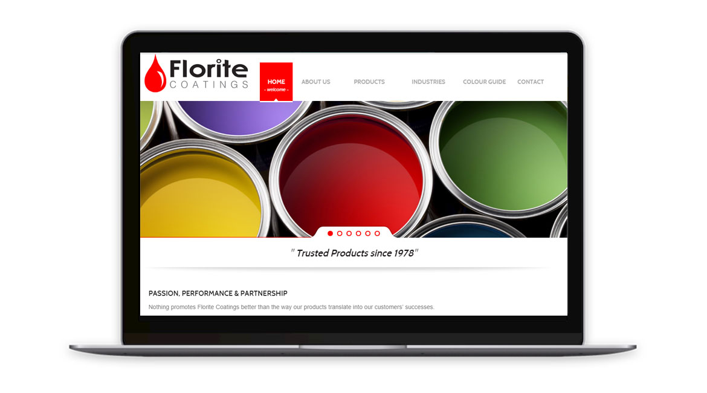 Florite Coatings website design