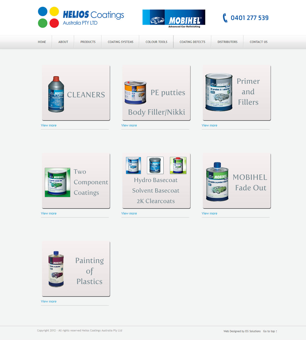 Helios Coatings - Product Page