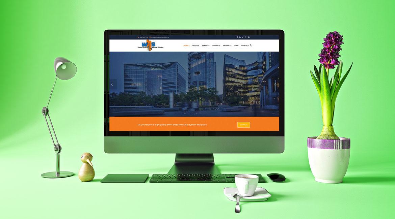 WHA Solutions website design