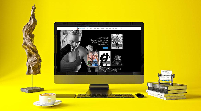 Wrestling Sydney website design