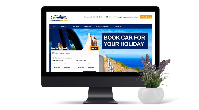 Sydney Cheap Car Rental Website Design