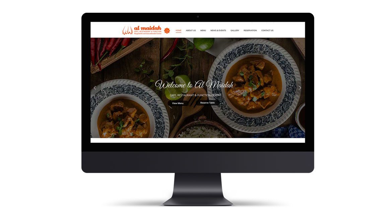 Al Maidah Cafe & Restaurant Website Design