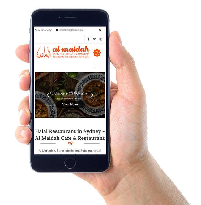 Al Maidah Website on Mobile Devices