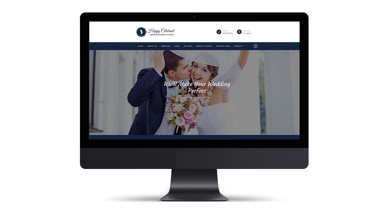 Happy Celebrant Website Design in Sydney