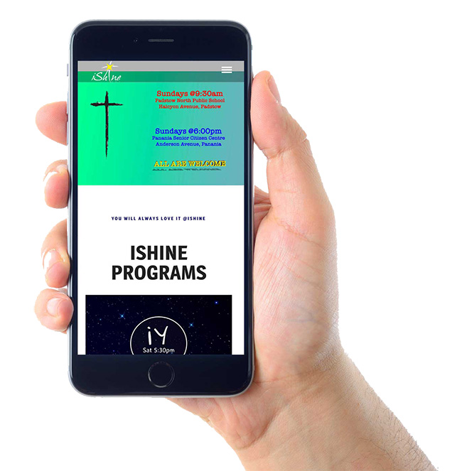 iShine Church on Mobile Devices