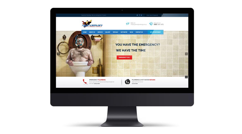 Supaman Plumbing Website Design