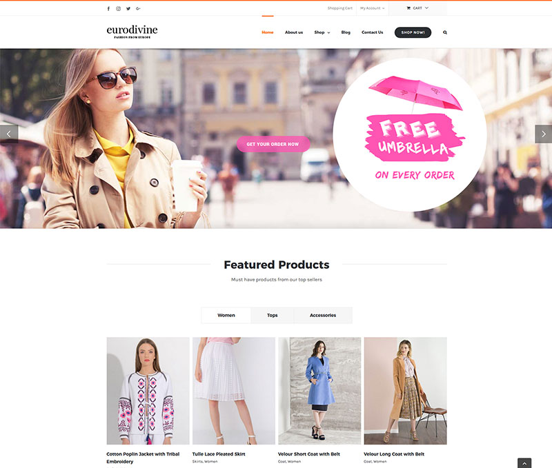 eurodivine eCommerce website design