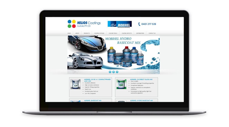 Helios Coatings Website Design