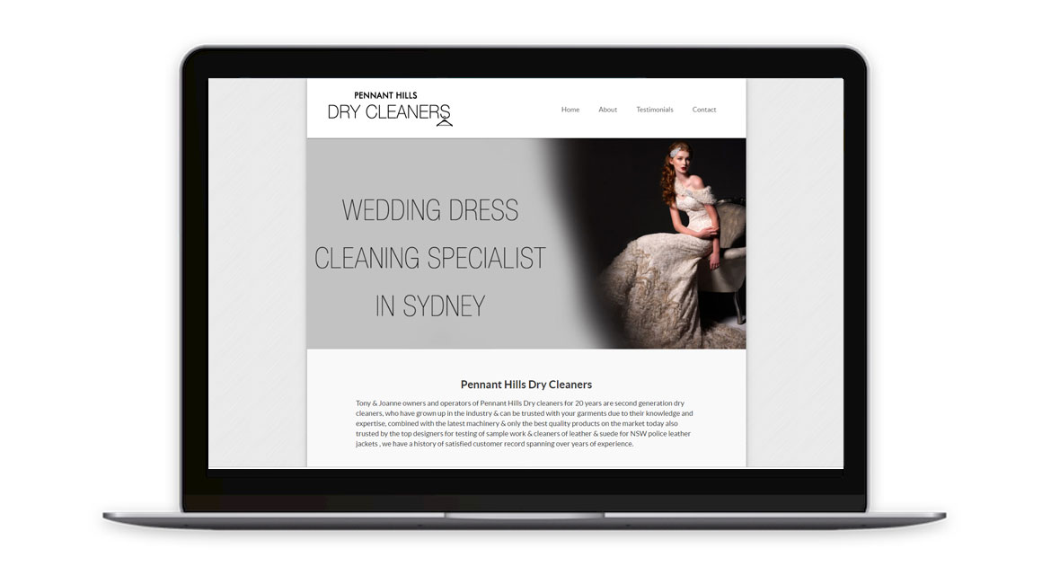 Pennant Hills Dry Cleaners Website Design