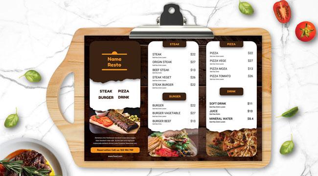 Restaurant Menu Design Services in Sydney