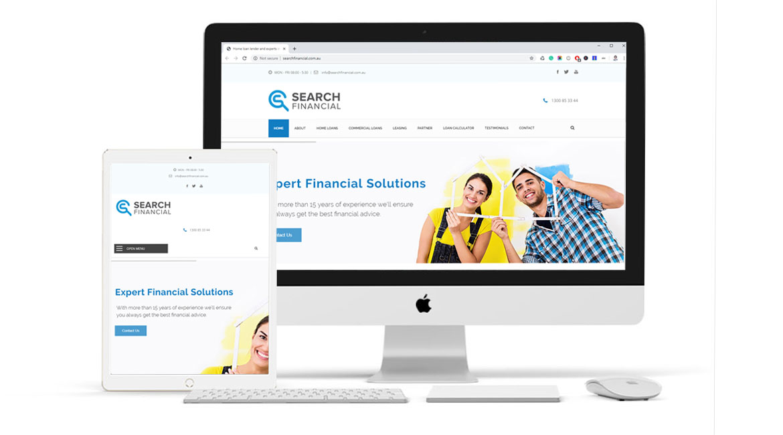 Search Financial Website Design