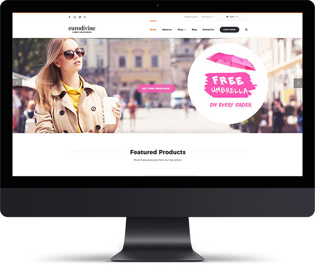 Eurodivine eCommerce Website - PSD to XHTML