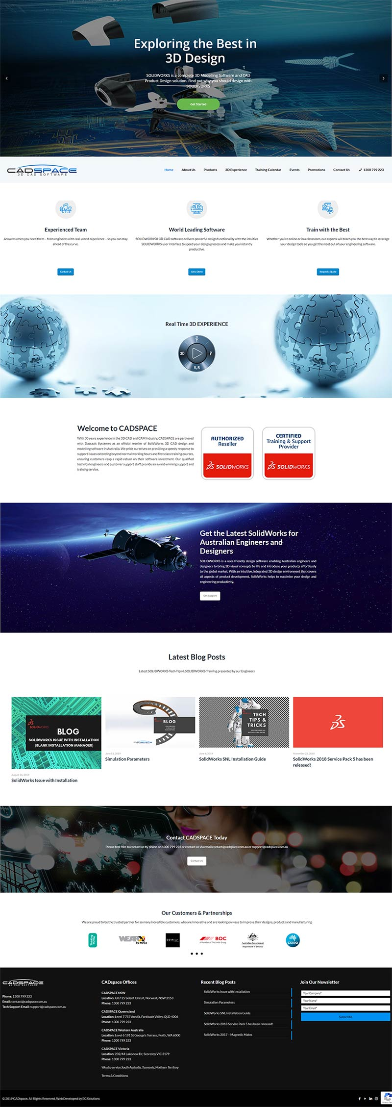 CADspace Homepage Design