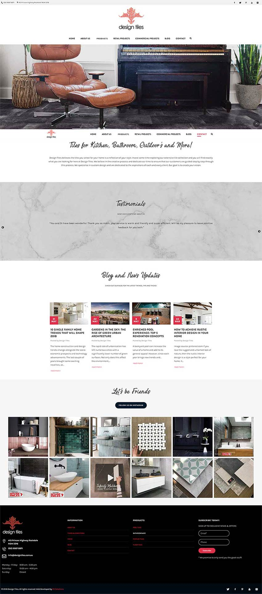 Design Tiles Homepage Design