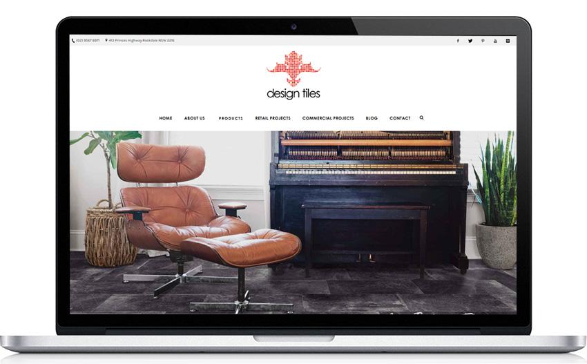 Design Tiles Website in Desktop