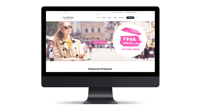 Eurodivine Website Design