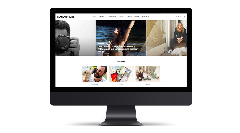 Mane Albright Website Design