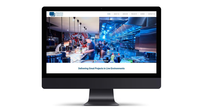Pacific Construct Website Design