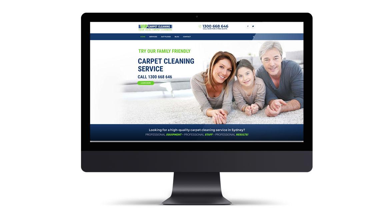 VIP Carpet Cleaning Website Design