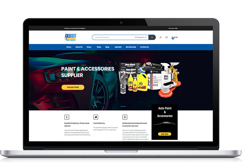 Autowest eCommerce Website Design