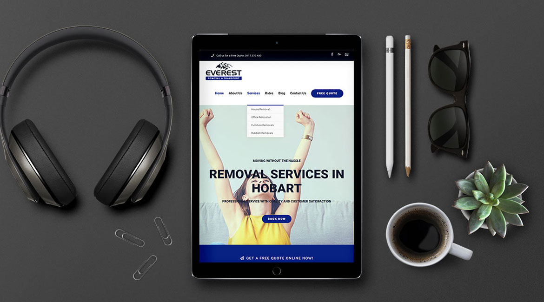 Everest Removal Website Design