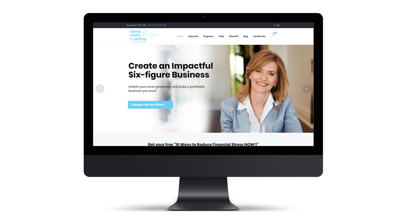 Infinity Clarity Coaching Website Design