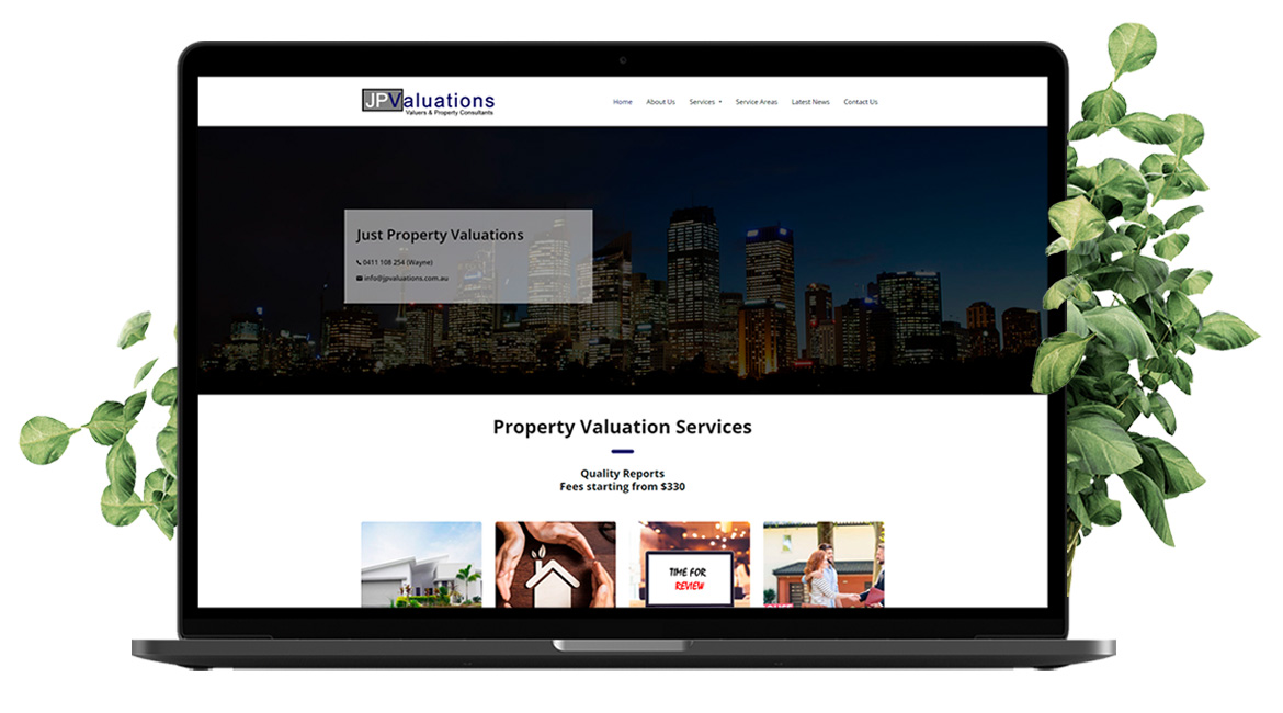 Just Property Valuations Web Design