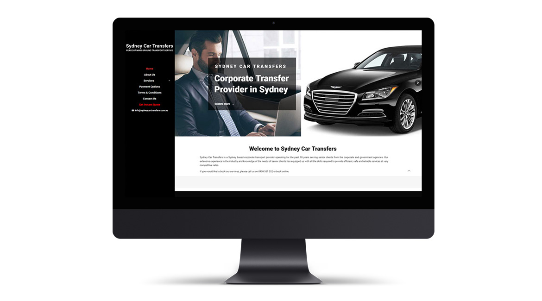 Sydney Car Transfers Website Design