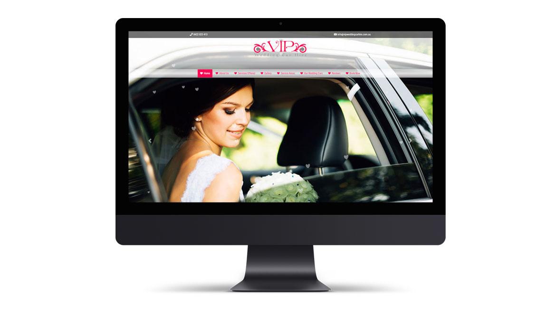 VIP Wedding Car Hire Website Design