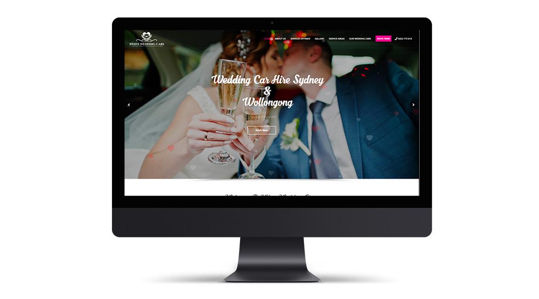 White Wedding Cars Website Design