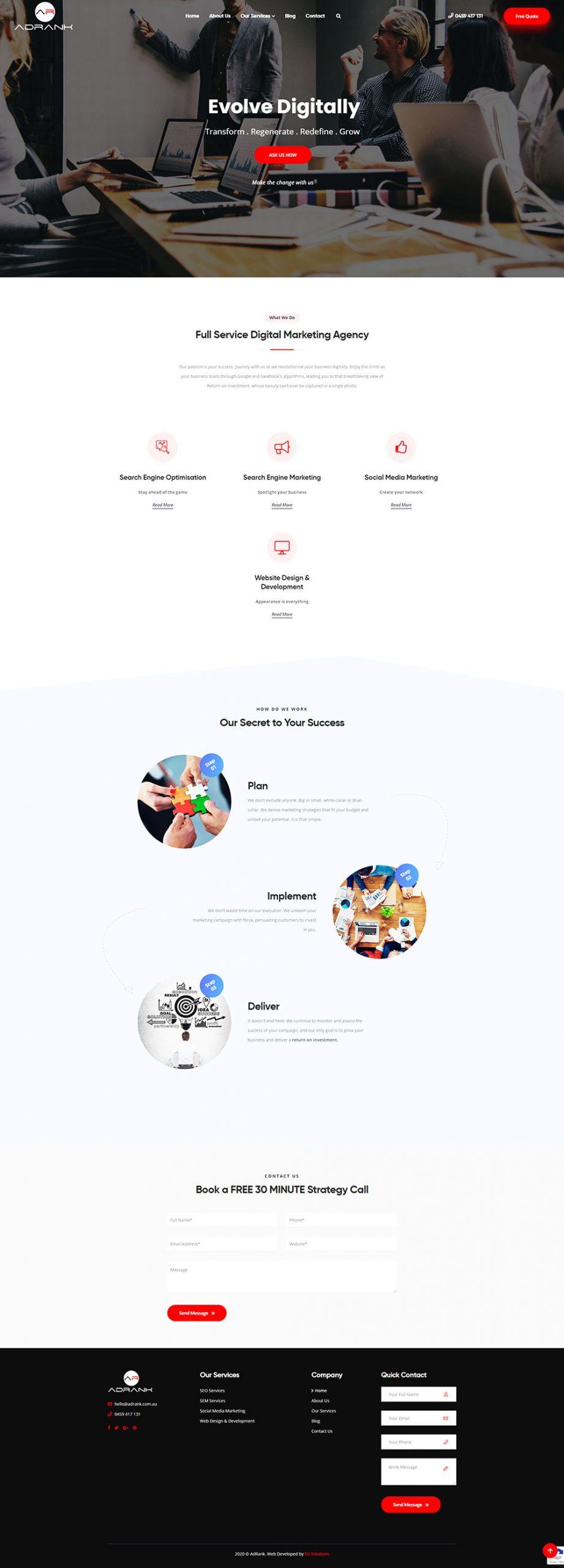 AdRank - Homepage
