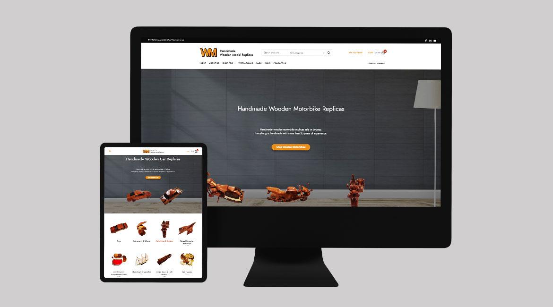 Wooden Models Website Design