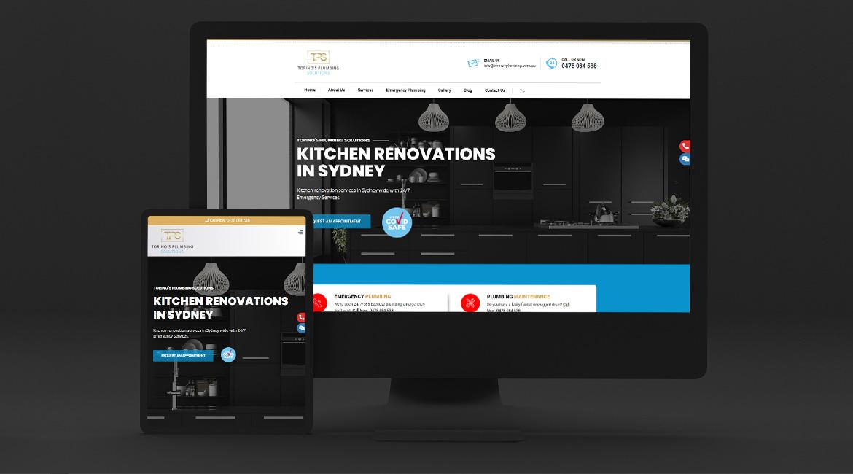 Torino's Plumbing Solutions - Website Design