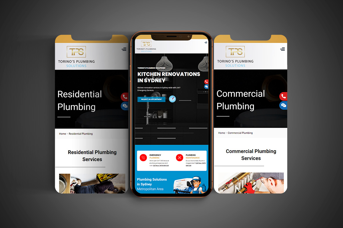 Torino's Plumbing Website - Mobile Version