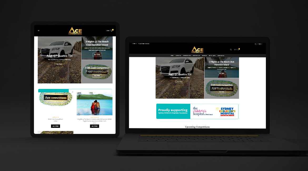 Ace Competitions Web Design