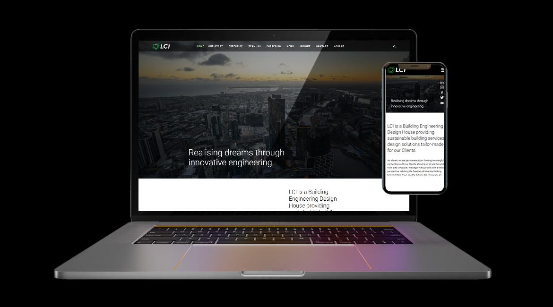LCI Consultants Website Design