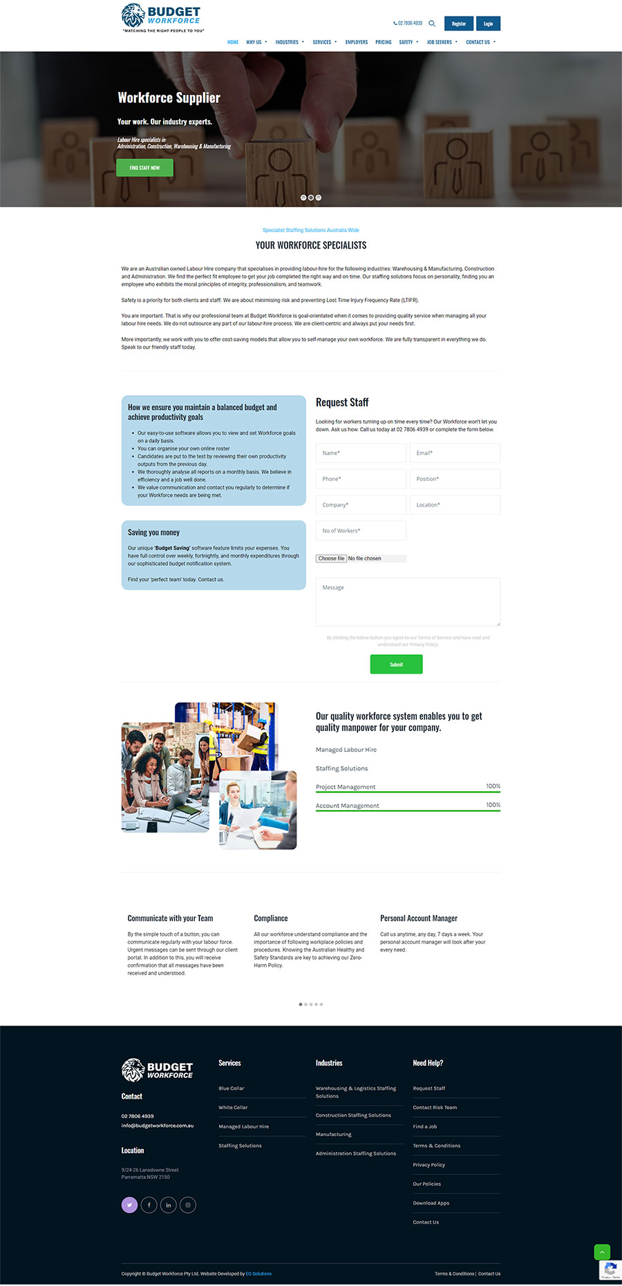 Budget Workforce - Home page