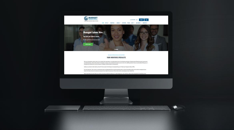 Budget Workforce website design sydney